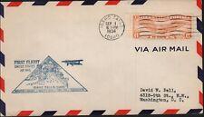 FIRST FLIGHT Idaho Falls, Idaho (1934) Air Mail Cover *RARE*