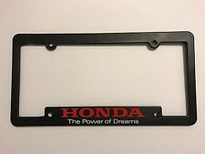 "Genuine Honda ""The Power of Dreams"" Brand New License Frame Plate"
