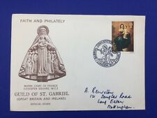1970 Guild of St Gabriel Convention Faith and Philately FDC