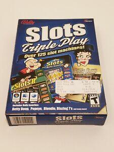 Bally Slots Triple Play Win MAC PC CD Over 125 Slot Machines Computer Game PC