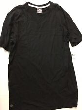 Lacoste Men's Black Pique Short Sleeve Sleep Lounge Top Shirt M NWT