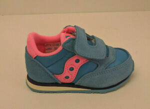Saucony Baby Jazz Sneakers, Blue/Pink, Toddlers 4.5 M