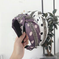 Women Headband Twist Hairband Bow Knot Cross Tie Wide Headwear Hair Band Hoop