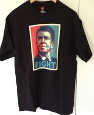 Ronald Reagan RIGHT Graphic T-shirt Black Large  Campaign Poster Republican