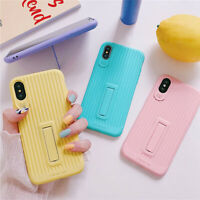 For iPhone XS Max XR 10R X XS Case Stand Holder Cute Girls Silicone Soft Cover