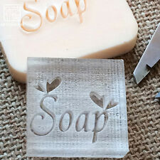 Natural Handmade Soap Seal Stamp Mold Chapter Acrylic Glass Customized DIY