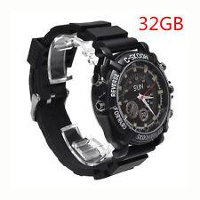 32GB Spy HD Video Wrist Watch Camera 1080P Hidden DV DVR Waterproof Camcorder