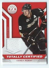 COREY PERRY - 2013/14 TOTALLY CERTIFIED - ANAHEIM DUCKS / GAME USED JERSEY RED