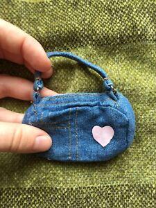 Denim Tote Bag / Purse for 1:6 YOSD or 1:4 MSD BJD Doll BAG ONLY