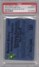1997 David Ortiz Debut PSA Ticket Pass Ryne Sandberg last GM