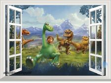 Disney The Good Dinosaur Arlo 3D Window View Removable Wall decor kids Sticker