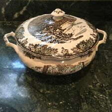 Johnson Bros Friendly Village Handled Soup Tureen with Lid EUC