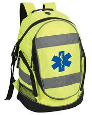Star of Life Hi-Vis Rucksack/Work Bag - Paramedic First Responder Ambulance