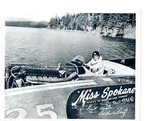 1958 MISS SPOKANE HYDROPLANE 8X10 PHOTO WASHINGTON INLAND EMPIRE RACING BOAT