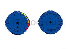 Tachoscheiben für BMW 1er E81 E82 E87 E88 Benziner 300 kmh km/h M1 Blau Nr 104