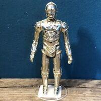 Star Wars Vintage C-3PO Gmfgi 1977 Loose Limbs Glued to Base Original Model! #