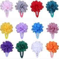 10Pcs Chiffon Flower Baby Girls Hair Clips Hairpin Barrettes Cute Headwear Gifts