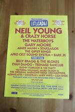 FLEADH FESTIVAL 2001 - ADVERT - NEIL YOUNG, WATERBOYS, GARY MOORE, BILLY BRAGG.