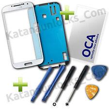 Kit Completo Reparacion Cristal pantalla Samsung Galaxy S4 i9505 i95000 Blanco