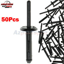 50pcs Mounting Rivet Fastener Retainer Clip For Plymouth Eagle Cadillac 6mm Hole