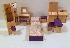 Dollhouse Doll Furniture Bedroom Kitchen Bathroom Geoffrey Inc Toys R Us HTF!