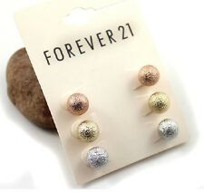 *Forever21* 3 pairs frosted balls Earrings/studs J37