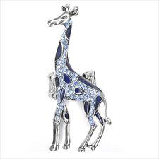 "Giraffe Animal Adj Cocktail Rings Painted Blue Crystal Costume Jewelry 2.7"" New"