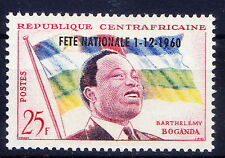 Central Africaine 1960 MNH 1v, OPT, Flags, B Boganda, 1st PM