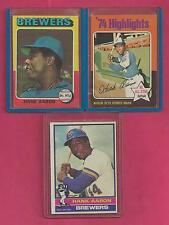 1 Hank Aaron 1975 Topps Card # 1 - Atlanta Braves Milwaukee Brewers EX Near Mint