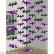 Halloween Haunted House Purple Vampire Bats Bat Foil String Strings Decorations