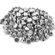 100 Pcs Silver Sewing Spike Rivet Studs Punk Rock For Leathercraft Decor sdf