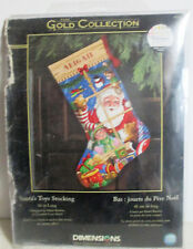 DIMENSIONS GOLD COLLECTION SANTA'S TOYS STOCKING CROSS STITCH KIT 8818