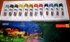 Set 12 shades oil colour tubes starters painting hobby student by Camlin canvas