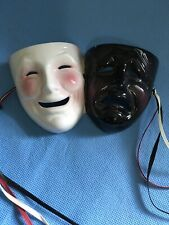 comedy tragedy Theather wall masks 1992. Black And White