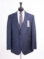 Men's British Tailor Big & Tall Navy Check Regular Fit Suit 54R W48 L31 RRP£285