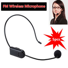 5pcs Wireless Microphone Headset Megaphone FM Radio Mic Transmitter For Speaker