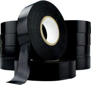 "0.75"" x 60' Heavy Duty Electrical Tape Black Bulk Value Pack by Nova Supply"