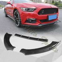 For 2015-2017 Ford Mustang Carbon Look Front Bumper Body Kit Spoiler Lip 3PCS