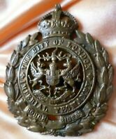 The City of London Yeomanry Rough Riders Cap Badge 58mm All BRASS Blades ANTIQUE