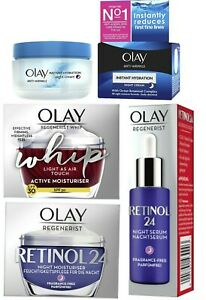 OLAY REGENERIST 3 POINT, RETINOL 24,OLAY REGENERIST WHIP, DAY AND NIGHT CREAM