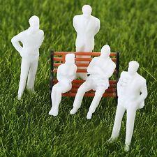 Model Train People Passengers Figures Set 100pcs White Scenery DIY Scale 1 50
