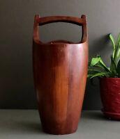Vintage Dansk IHQ/JHQ Jens Quistgaard Congo Staved Teak Ice Bucket