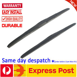Pair Frameless Windscreen Wiper Blades For Chrysler 300 300C 2005 - 2016