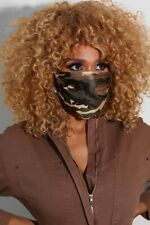 masque fashion camouflage brun/vert protection anti-projection