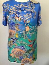 MARY KATRANTZOU TSHIRT TOP MULTICOLOR ANIMALS FLORA PRINT SIZE M L UK NEW £400