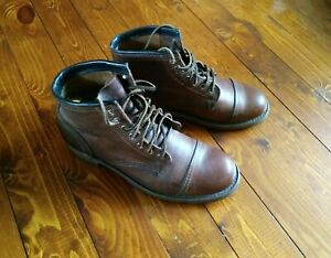 Frye Logan Cap Toe Men's Boots Size:8.5 color: brown