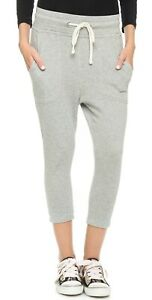 *SOLD OUT* James Perse Cropped Sweat Pant in Heather Grey NEW NWT 0 (XS)