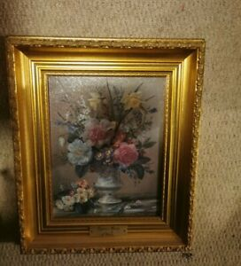 Daffodils & Bluebells By Albert Williams Oil Effect Textured Print Framed