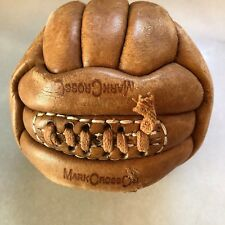 Vintage Mark Cross, Made in England Brown Leather Soccer Ball 18 Panel