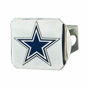 Dallas Cowboys NFL Color on Chrome Hitch Cover